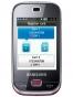 Fotografía Frontal del Samsung B5722 Rosa. En la pantalla se muestra Imagen promocional en pantalla