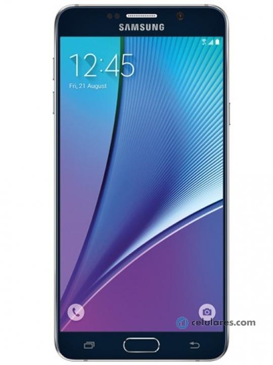 6b7273219fc41 Fotografía grande Varias vistas del Samsung Galaxy Note 5 Blanco perla y  Dorado y Negro y
