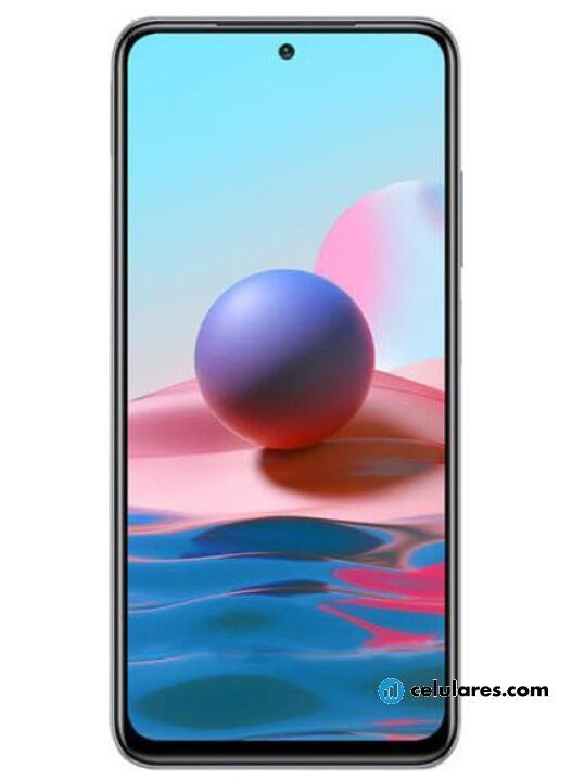 Fotografía grande Varias vistas del Xiaomi Redmi Note 10 Pro Azul y Bronce y Gris. En la pantalla se muestra Varias vistas